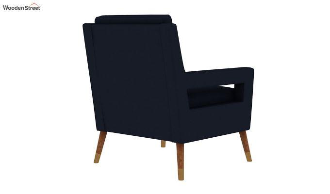 Boris Arm Chair (Fabric, Indigo Ink)-4