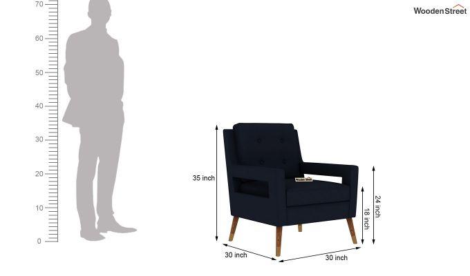 Boris Arm Chair (Fabric, Indigo Ink)-5