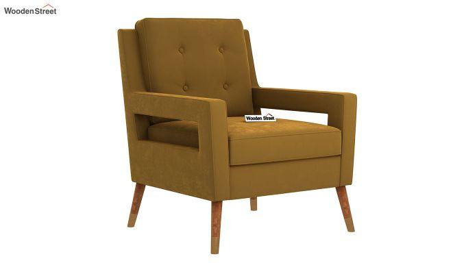 Boris Arm Chair (Velvet, Olive Gold)-2