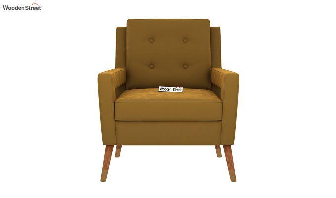 Boris Arm Chair (Velvet, Olive Gold)-3