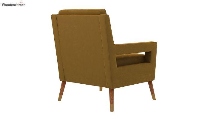 Boris Arm Chair (Velvet, Olive Gold)-4
