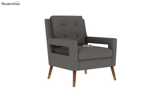 Boris Arm Chair (Fabric, Warm Grey)-2