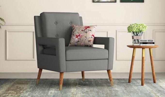 Boris Arm Chair (Fabric, Warm Grey)-1