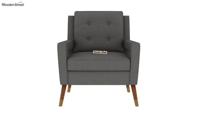 Boris Arm Chair (Fabric, Warm Grey)-3