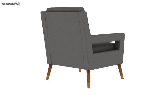 Boris Arm Chair (Fabric, Warm Grey)-4
