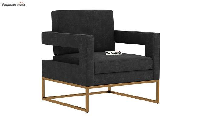 Cargo Arm Chair (Velvet, Graphite Grey)-2