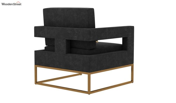 Cargo Arm Chair (Velvet, Graphite Grey)-4