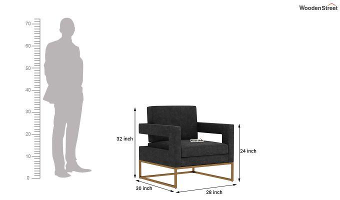 Cargo Arm Chair (Velvet, Graphite Grey)-5