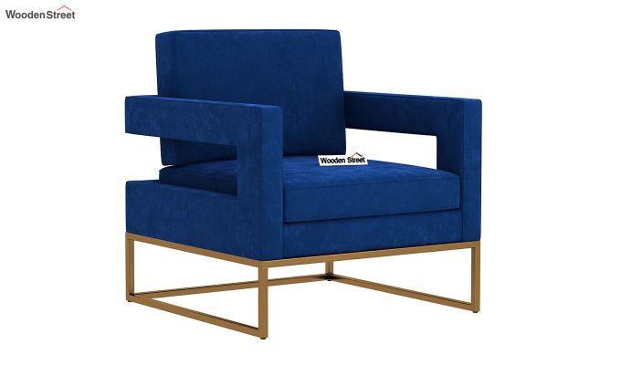 Cargo Arm Chair (Velvet, Indigo Blue)-2