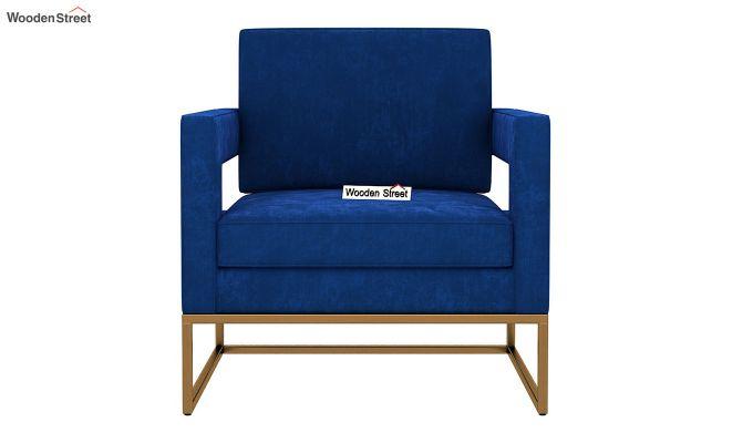 Cargo Arm Chair (Velvet, Indigo Blue)-3