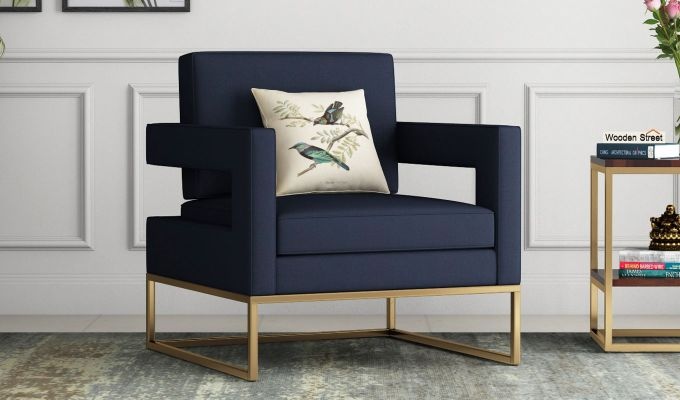 Cargo Arm Chair (Fabric, Indigo Ink)-1