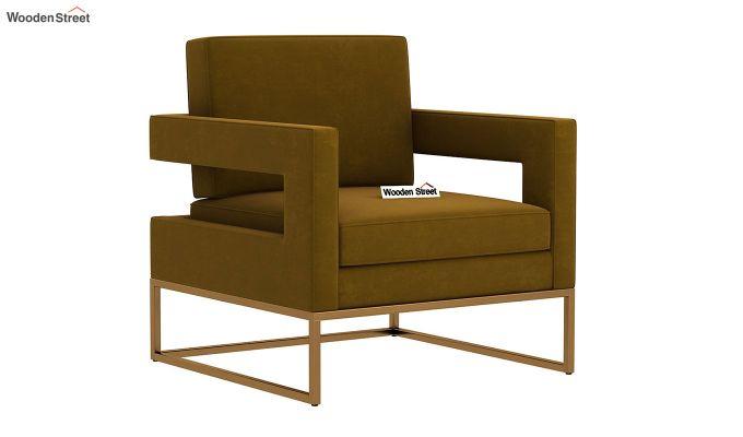 Cargo Arm Chair (Velvet, Olive Gold)-2