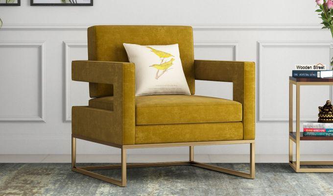Cargo Arm Chair (Velvet, Olive Gold)-1