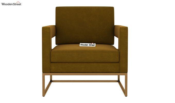 Cargo Arm Chair (Velvet, Olive Gold)-3