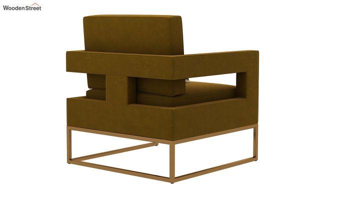 Cargo Arm Chair (Velvet, Olive Gold)-4