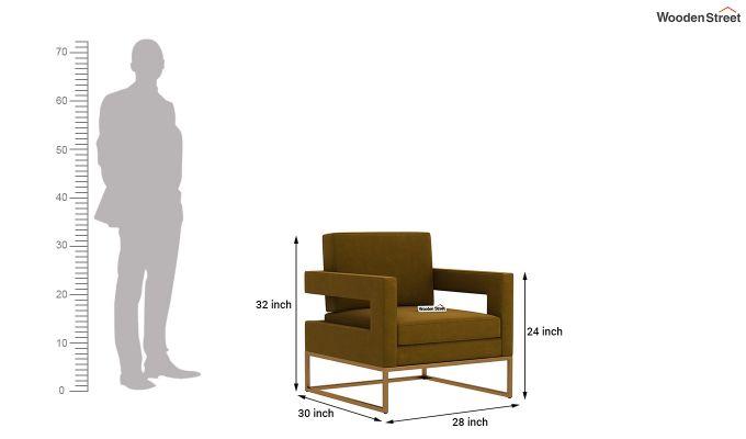 Cargo Arm Chair (Velvet, Olive Gold)-5