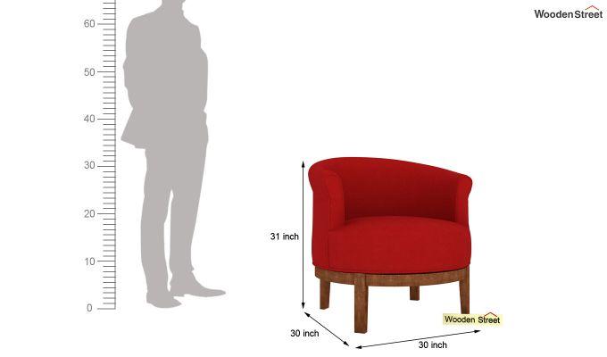 Clover Lounge Chair (Dusky Rose)-4