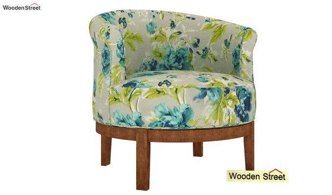 Clover Lounge Chair (Teal Tulip)-2