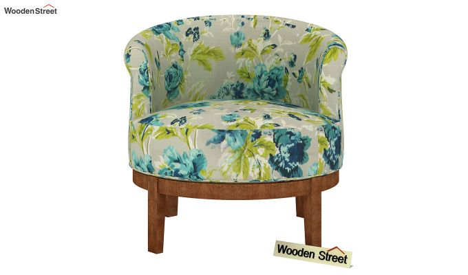 Clover Lounge Chair (Teal Tulip)-3