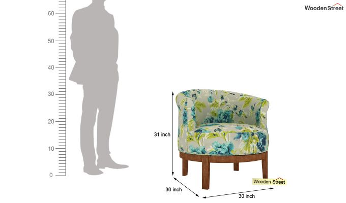 Clover Lounge Chair (Teal Tulip)-4