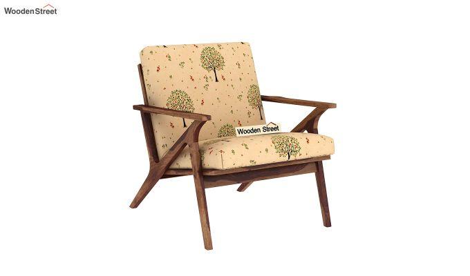 Crisper Arm Chair (Linen, Beige Pomme)-2