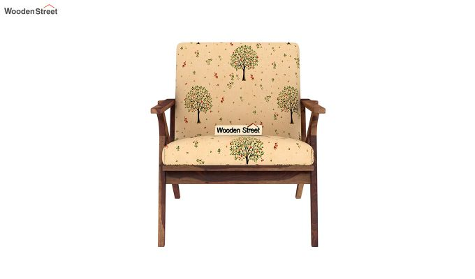 Crisper Arm Chair (Linen, Beige Pomme)-3