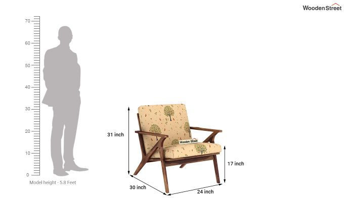 Crisper Arm Chair (Linen, Beige Pomme)-4