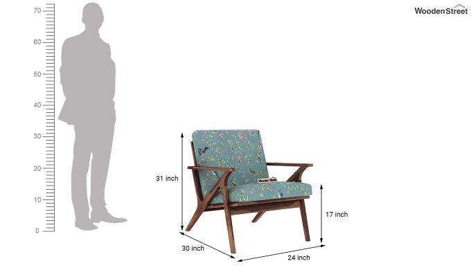 Crisper Arm Chair (Linen, Bubble Robins)-4