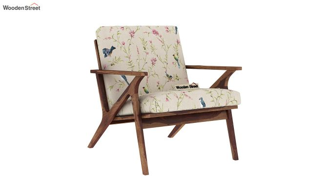 Crisper Arm Chair (Linen, Cream Robins)-2