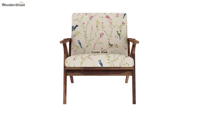 Crisper Arm Chair (Linen, Cream Robins)-3