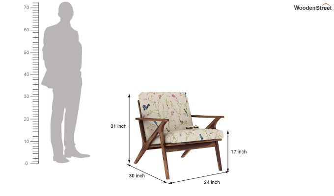 Crisper Arm Chair (Linen, Cream Robins)-4