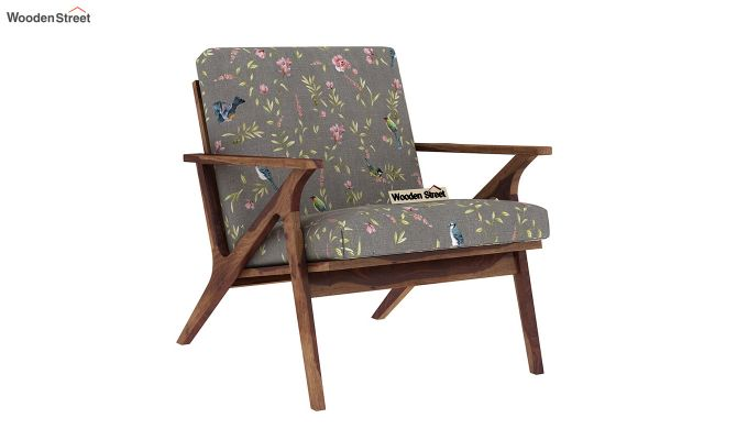 Crisper Arm Chair (Linen, Grey Robins)-2