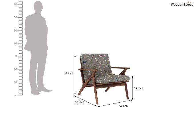 Crisper Arm Chair (Linen, Grey Robins)-4