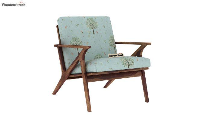 Crisper Lounge Chair (Linen, Teal Pomme)-2