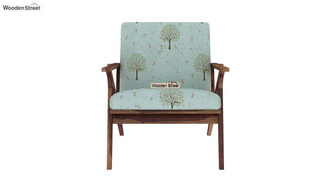 Crisper Lounge Chair (Linen, Teal Pomme)-3