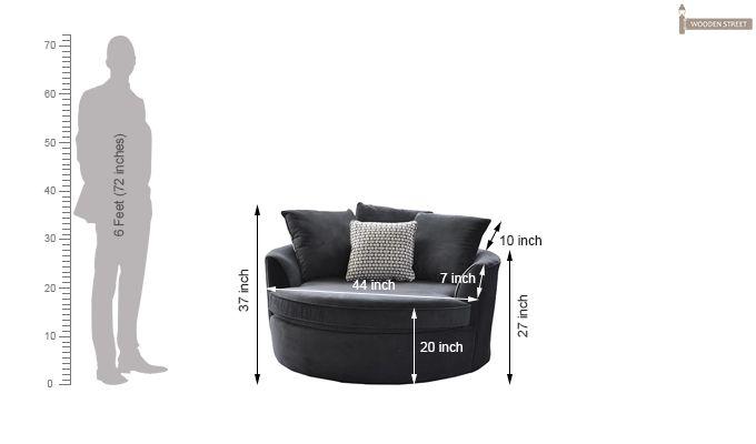 Eddie Lounge Chair (Grey)-2