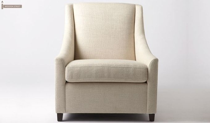 Fred Wingback Chair (Ivory)-1