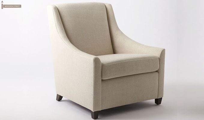 Fred Wingback Chair (Ivory)-2