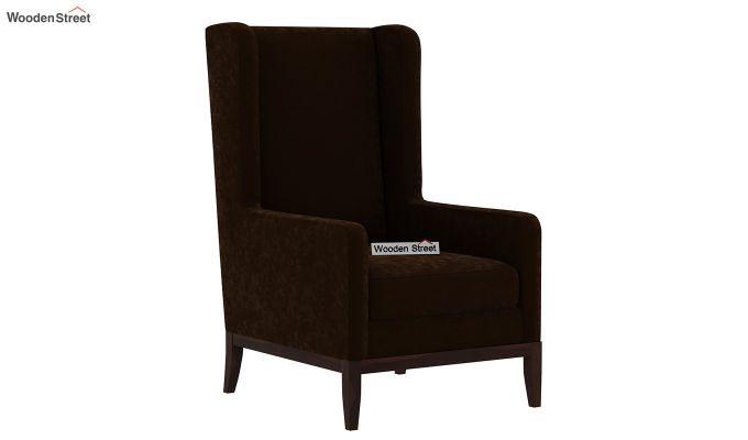 Joan Lounge Chair (Velvet, Chocolate Brown)-2