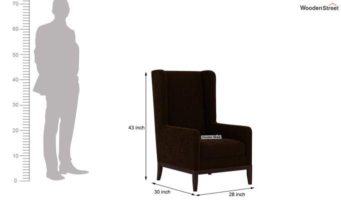 Joan Lounge Chair (Velvet, Chocolate Brown)-4