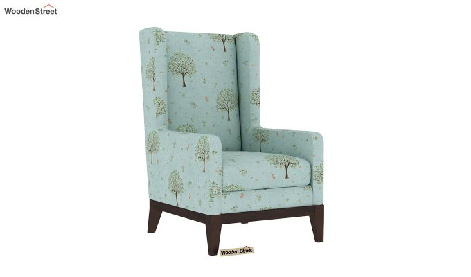 Joan Wingback Chair (Linen, Teal Pomme)-2