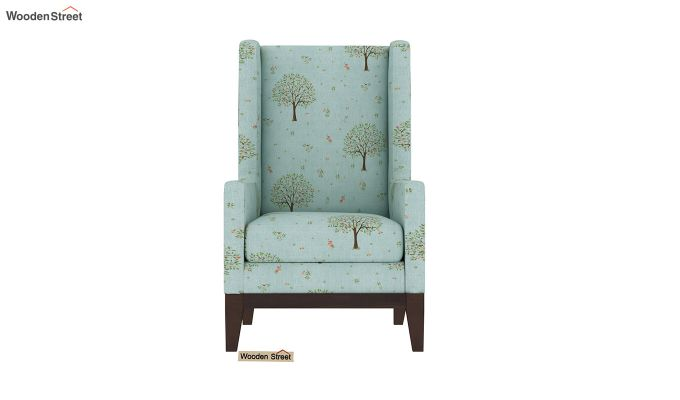 Joan Wingback Chair (Linen, Teal Pomme)-3