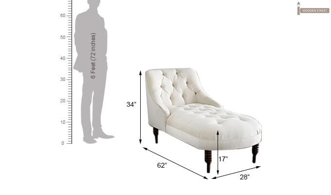 Keaton  Chaise Lounge (Cream)-2