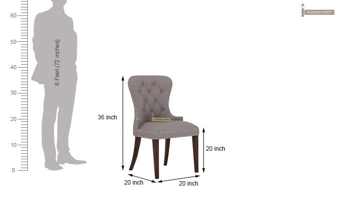 Lenox Dining Chair (Warm Grey)-4