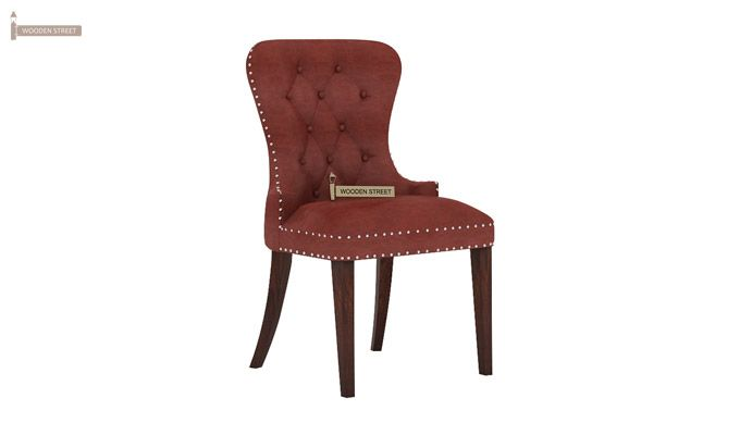 Lenox Dining Chair (Leatherette, Burnt Umber)-1