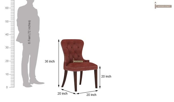 Lenox Dining Chair (Leatherette, Burnt Umber)-4