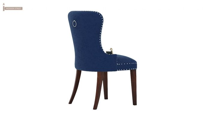 Lenox Dining Chair (Velvet, Night)-3