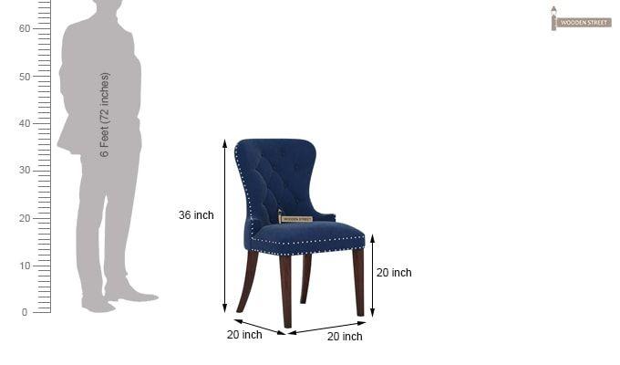 Lenox Dining Chair (Velvet, Night)-4