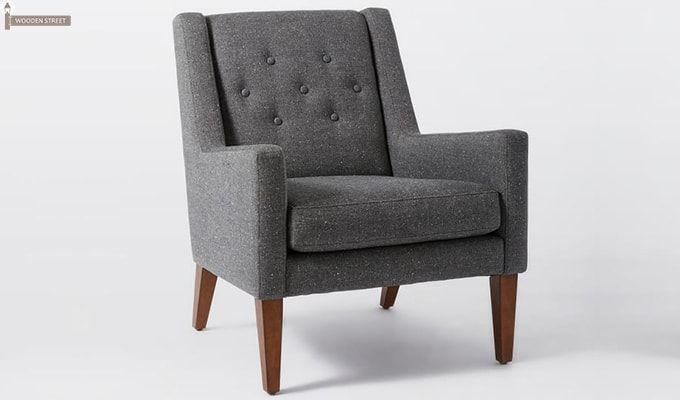 Nancy Wingback Chair (Grey)-1