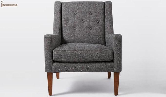 Nancy Wingback Chair (Grey)-2